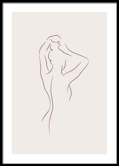 Minimalist Drawing, Minimalist Art, Art Abstrait Ligne, Simple Line Drawings, Simple Line Tattoo, Line Drawing Art, Outline Art, Body Outline, Outline Drawings