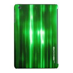 #abstract #green #shiny #pattern #personalized by name- #ipad #cover