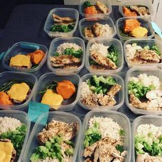 I just prepped 17 meals for my client for his competitive!! What do you guys think? Look delicious?