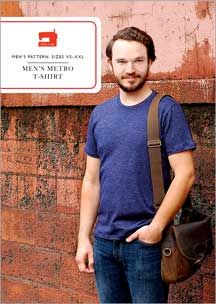 Sewing Men Projects digital men's metro t-shirt sewing pattern - This basic men's T-shirt pattern can be made several different ways. With both short-sleeve and long-sleeve options, you'll get endless use from this easy and quick-to-sew style. T Shirt Sewing Pattern, Mens Sewing Patterns, Sewing Men, Love Sewing, Sewing Clothes, Sewing Tutorials, Clothing Patterns, Sewing Ideas, Men Clothes