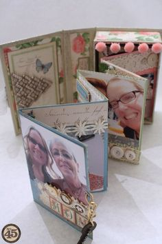 The beautiful mini inside this altered Botanical Tea Book Box by Denise Hahn #graphic45