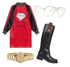 """Gucci Ghost"" by cuntore ❤ liked on Polyvore featuring Gucci, gg and ghost"