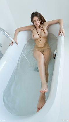 Busty Alisa is taking a bath on Femjoy