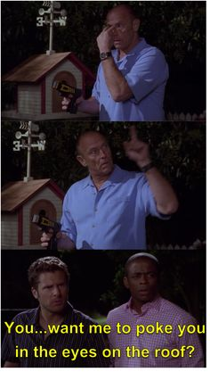 Shawn: You keep a stun gun in the birdhouse? What's under the garden gnome, an M-80?