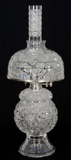 """Pedestal Oil Lamp - 19 1/2"""" X 10"""" - Abcg - Mt."""