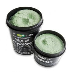Mask Of Magnaminty by Lush, best mask ever. Use it as a daily scrub and once a week as a mask.