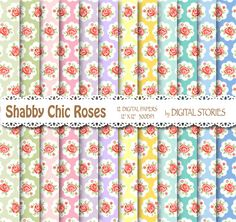 Shabby Chic Digital Paper SHABBY CHIC BREAKFAST by DigitalStories  https://www.etsy.com/listing/177855484/shabby-chic-digital-paper-shabby-chic?ref=shop_home_active_6