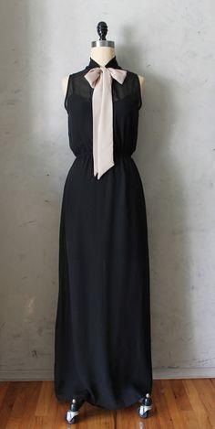Film Noir Maxi Dress