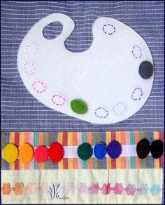manipulation: scratcher les taches de couleur selon la gamme chromatique.