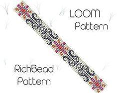 Loom pattern for bracelet Beading pattern Seed bead cuff DIY