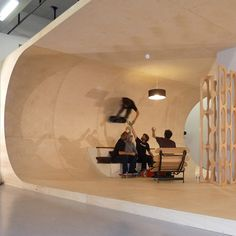 The PAS House. A fun home designed with the skateboarder at heart. Stair Shelves, Skateboard Ramps, The Pa, Inside The Box, Nature Decor, Cool Rooms, Office Interiors, Retail Design, Art And Architecture