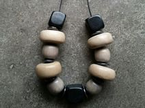 Wood and Hematite Necklace