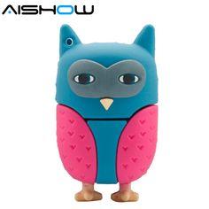 %100 Cartoon animal owl USB flash drive  64GB  Enough Memory Stick pen Drive 2GB 4GB 8GB 16GB 32GBpendrive