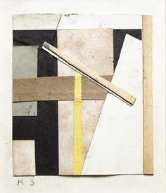 Kurt Schwitters, Yellow Stripe, 1947,