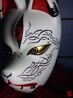 幻狐面ギャラリー Japanese Wolf, Japanese Fox Mask, Kitsune Mask, Oni Mask, Dream Mask, Fox Spirit, Japanese Drawings, Horror Movie Characters, Masks Art