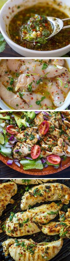 Grilled Chili Cilantro Lime Chicken - 9 Healthy Chicken Recipes for a Perfect Guilt Free Dinner Food For Thought, Mexican Food Recipes, Dinner Recipes, Fish Recipes, Dinner Dishes, Turkey Recipes, Good Food, Yummy Food, Tasty