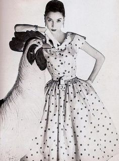 Givenchy Polka Dot Dress 1954