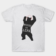 music at teepublic Music Is Life, Mens Tops, T Shirt, Fashion, Supreme T Shirt, Moda, Tee Shirt, Fashion Styles, Fashion Illustrations