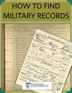 Get this new free eBook containing five of our favorite articles on finding your ancestors' US military records. Free Genealogy Sites, Genealogy Forms, Genealogy Research, Family Genealogy, Lds Genealogy, Ancestry Free, Free Genealogy Records, Genealogy Humor, Genealogy Chart