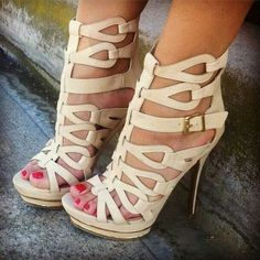 Strappy High Heels... I must find these!!