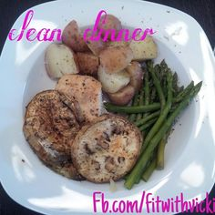 Clean eating eggplant and chicken dinner