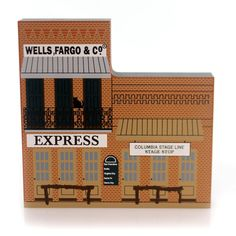 Cats Meow Village Columbia Wells Fargo Keepsake