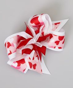 Another great find on #zulily! Red Camo Heart Bow Clip by Picture Perfect Hair Bows #zulilyfinds