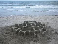 New Modernist Sandcastles Constructed by Calvin Seibert   Colossal