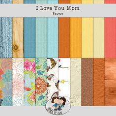 Oscraps.com :: Shop by Category :: All New :: SoMa Design: I love you Mom - Kit I Love You Mom, My Love, Scrapbook, Kit, Quilts, Paper, Shop, Design, Love You Mum