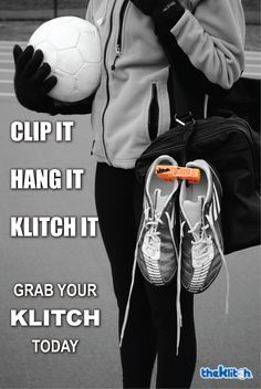 The Klitch is a footwear clip that allows you to hang extra sneakers or cleats to the outside of your bag. This avoids getting the inside of your bag dirty, smelly, and full. Great for anyone who plays sports, worksout, or has an active lifestyle. The Klitch can be used for anytype of footwear up to 10 lbs!