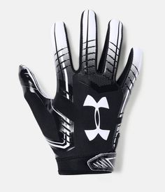 Under Armour Men's UA 2018 Football Receivers Gloves Running Back Gloves