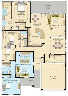 Nice layout. Love the additional suite for guests or even a rental unit.