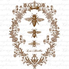 Totalizador de abejas francés Digital Collage por graphiquesepia