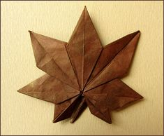 oragami maple leaf!