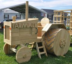 Cool Wooden FARMALL Tractor