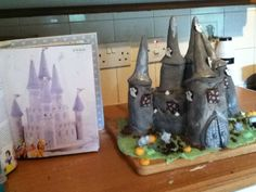 Nailed it! Halloween (Disney) haunted castle cake.