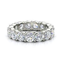 Platinum Ring with Diamond | Band of Brilliance | Gemvara