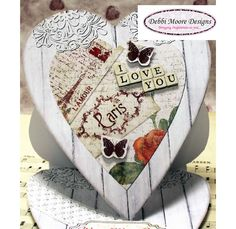 Shabby Chic Love Card - CreateAndCraft