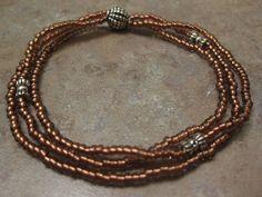 Seed Bead Jewelry , Seed Bead Bracelet, beaded jewelry, beaded bracelet,Hand Beaded Layered Stretch Bracelet, hand made bracelet. $10.00, via Etsy.