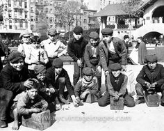 Shoeshine Boys in Little Italy, c. 1900