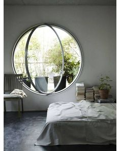 The nerd in me wants a window like the Hobbits from The Shire. :)