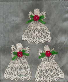 Thread crochet angels.