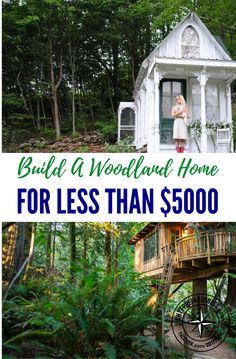 Build A Low Impact Woodland Home For Less Than $5000 — This is doable anywhere in the world! Its environmentally friendly and would make a perfect bug out location if you had limited funds to build a cabin or semi permanent residence.