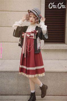 NyaNya Lolita -Love and Death- Wa Lolita High Waist JSK Short Version      NyaNya Lolita -Love and Death- Wa Lolita High Waist JSK Short Version