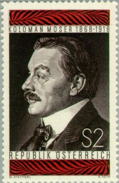 * Postzegel: Koloman Moser (1868-1918) stamp engraver & artisan (Oostenrijk) (Moser, Koloman) Mi:AT 1271,Sn:AT 818,Yt:AT 1102,ANK:AT 1301
