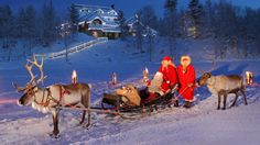 Reindeer, Santa and Finland. Love it.