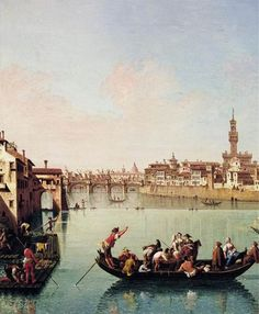 View af the Arno in Florence  ZOCCHI, Giuseppe