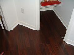 lowe's laminate flooring | Lowes Mohawk Georgetown ebony plank dark wood is a beautiful laminate ...
