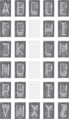 A typeface inspired by the history of type, specificallyAztec and century Coptic mark making, entitled 'Forma'.This typeface was custom made for my final major project based onautobiographical memory and how ephemera can trigger memories. Chalk Lettering, Hand Lettering Fonts, Creative Lettering, Lettering Styles, Calligraphy Fonts, Typography Letters, Fun Fonts Alphabet, Chalkboard Lettering Alphabet, Handwriting Fonts Alphabet