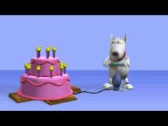 Happy Birthday Dog with Cake